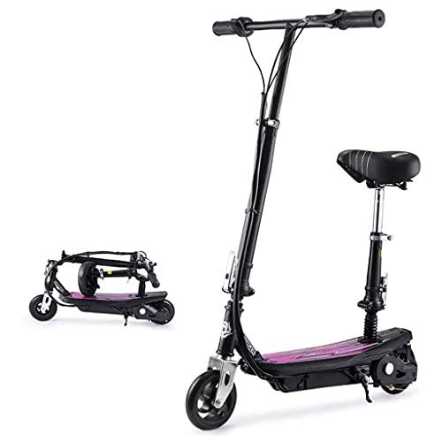 J&LILI Scooter Eléctrico para Adultos Plegables, 100 Kg De Carga Máxima con Luz LED Y Pantalla HD Fácil Plegado Y Diseño De Transporte, Freno Eléctrico para Adultos Y Niños
