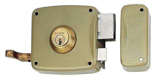 Lince 3017220 Cerradura 5125A-BO/100 Derecha, Oro
