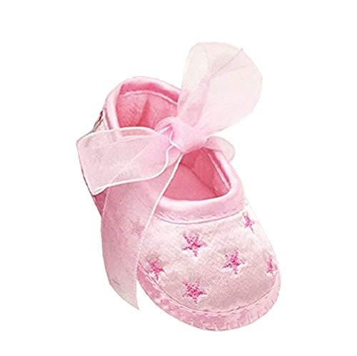 Scarpe per Bambina - Neonata - Tessuto - Stelle - Decorate - Idea Regalo Compleanno - Natale - Festa - Taglia 16 EU = 0-3 Mesi del Produttore