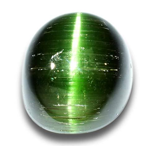 【鑑別付】天然グリーントルマリンキャッツアイ 2.747ct トルマリン ルース 原石【加工承ります】
