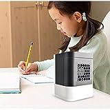 Enfriador de aire miniatura portátil, ventilador de aire acondicionado USB silenciado, máquina de aromaterapia en spray, 131X131X170cm Black