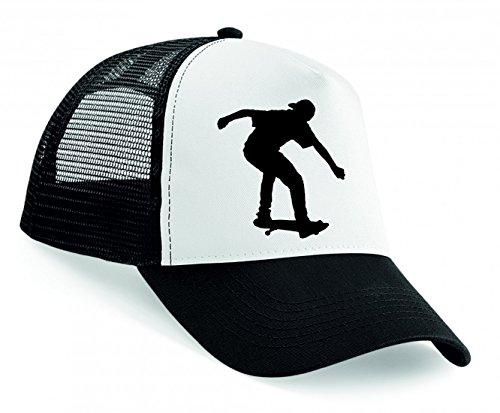 Snapback Skateboard- Athlet- Junge- ÜBUNG- Fitness- Gesundheit- MENSCHLICHE- Spielen- Silhouette- Sport- Trick Unisex Baseballmütze Trucker Mützen Base Caps