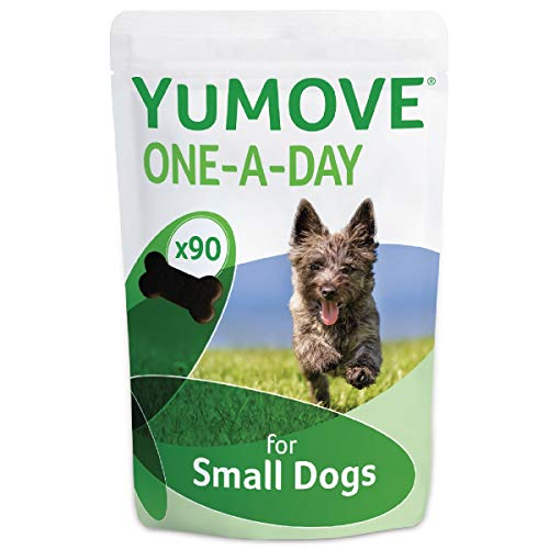 Lintbells | YuMOVE ONE-A-DAY Small Chewies For Dogs | Essential Hip and Joint Supplement for Stiff Dogs Aged 7 to 8 | 90 Chews - 3 Months supply