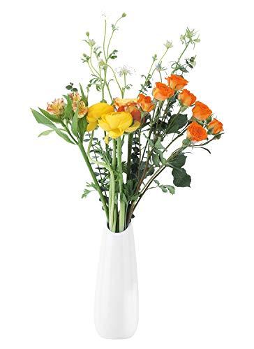 Luxspire Jarrones de Flores Blanca,Jarrones de Flores Suave, Elegante Decoración para la Decoración del Escritorio de la…