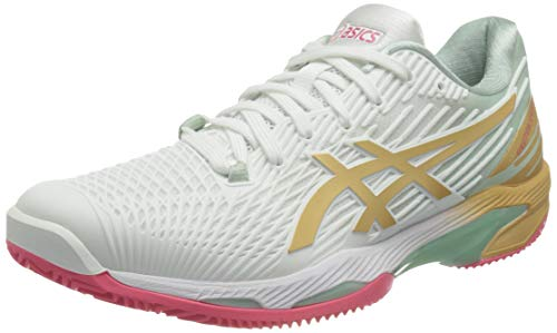 ASICS Solution Speed FF Clay, Zapatos de Tenis Mujer, White...