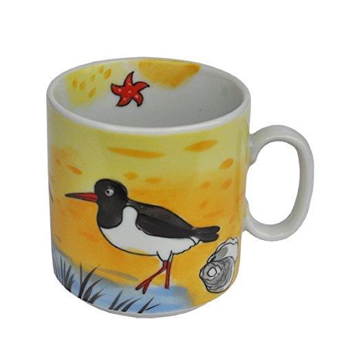 Helina Tilk Sylt Gobelet empilable avec chemin de plage et garnot Porcelaine Peint à la main
