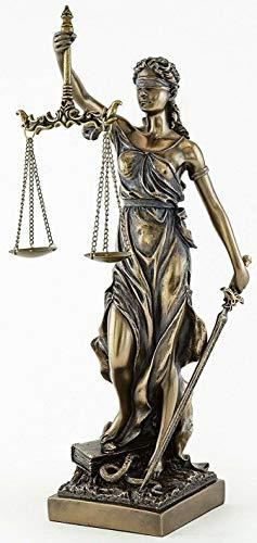 JFSM INC. Blind Lady Justice Statue Sculpture - Greek Roman Goddess of Justice