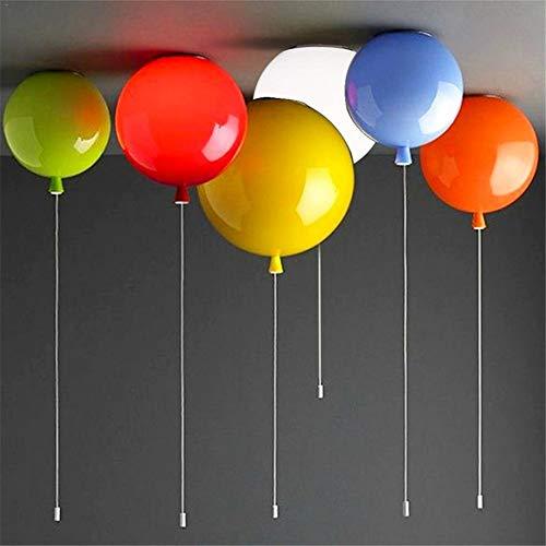 SHELLTB Lampada a Palloncino Lampada a Sospensione Moderna a LED a Forma di Palloncino,orange25cm