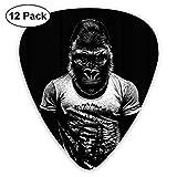 Gorilla Muscle Man ギターピック 351形 ABS セルロイド Chic モダン実用い電気音響ギターのアクセサリー マルチ仕様 (0.46mm/ 0.71mm/ 0.96mm 3つのサイズ 計12枚セット)