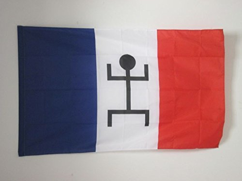 AZ FLAG Flagge FRANZÖSISCH-Sudan 1892-1959 90x60cm - FRANZÖSISCH-SUDANS Fahne 60 x 90 cm Scheide für Mast - flaggen Top Qualität