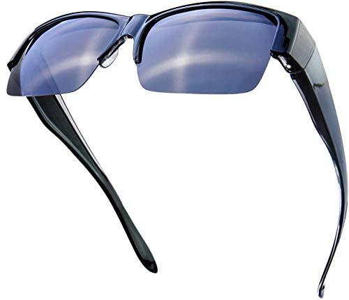 The Fresh Gafas de sol polarizadas de alta definición envolventes alrededor del escudo para gafas - caso de gafas de cuero