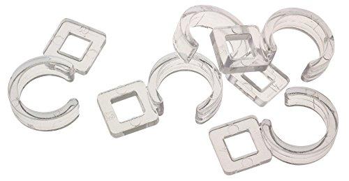 ATELIERS 28 Agrafe pour diamètre 28 et 35 mm Plastique à Coudre - Transparent - Vendu par 10