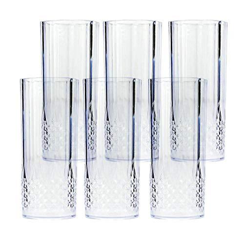 HoitoDeals Vasos de plástico de 400 ml para bebidas largas (juego de 6)