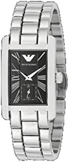 Emporio Armani Women's Black Dial Stainless Steel Band Watch - Ar0157, Analog Display, Quartz Movement