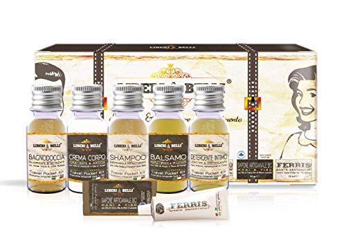 LIBERI & BELLI | Set da viaggio, kit per l'igiene personale + Dentifricio senza Flouro