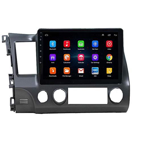 YGQNH Navigazione per Auto, Navigatore GPS con Lettore Multimediale IPS da 10,1 Pollici A 8 Core per Honda Civic 2006-2011 Guida A Sinistra con Fotocamera 360 DSP Autoradio 2DIN