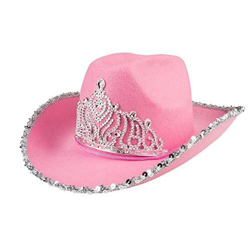 Boland-Sombrero cowgirl Glimmer Womens, Rosa, talla única, 04392