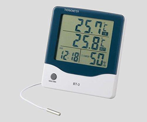 アズワン2-897-01アラーム時計付大画面温湿度計BT-3【1個】(as1-2-897-01)