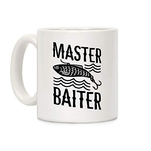 N\A Taza de café de cerámica Blanca Master Baiter
