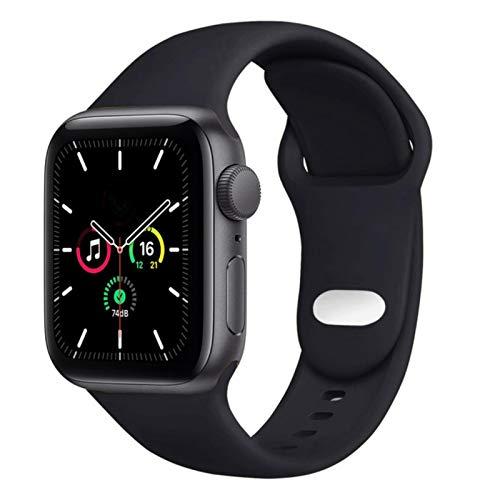 Correa de silicona para Apple Watch Band accesorios pulsera Correa pulsera deportiva para IWatch 5 4 3 Se 6