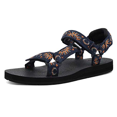 CIOR Women's Sport Sandals Hiking Sandals with Arch Support Yoga Mat Insole Outdoor Light Weight Water Shoes-U119SLX022-Navy-41A
