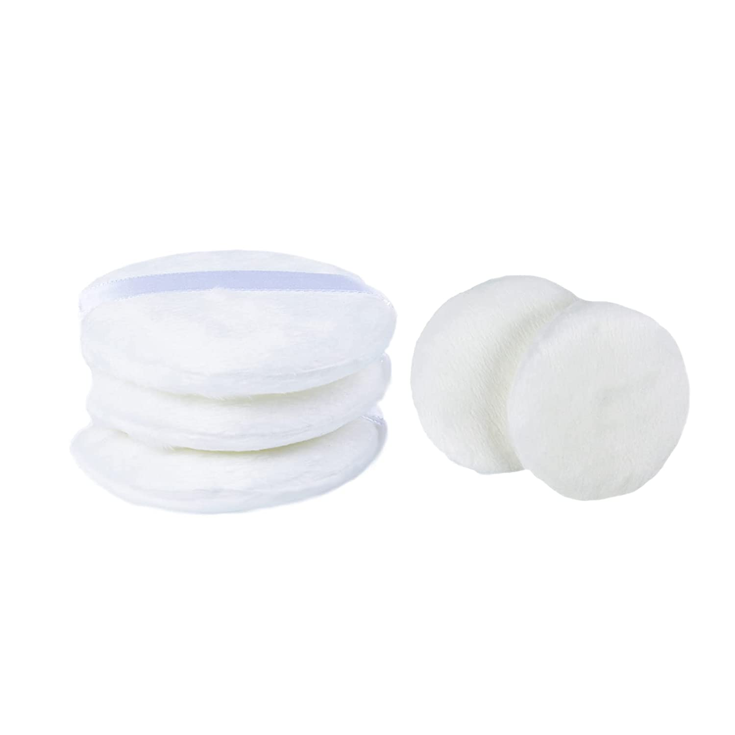 5PCS Baby Powder Puff White Super Soft Plush Suitable for Baby Body Care/Womens Daily Skin Care Makeup Cosmetic Powder Puff