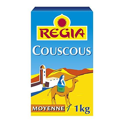 REGIA - Semoule De Couscous Moyenne 1Kg - Lot De 4