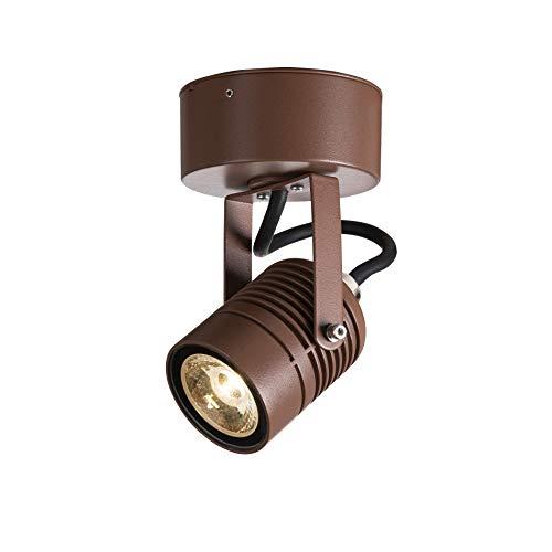 SLV Wandaufbauleuchte LED SPOT SP / Beleuchtung für Wände, Wege, Eingänge, LED Spot außen, Aufbau-Leuchte Outdoor, Gartenlampe / IP55 3000K 6.0W 400lm rost