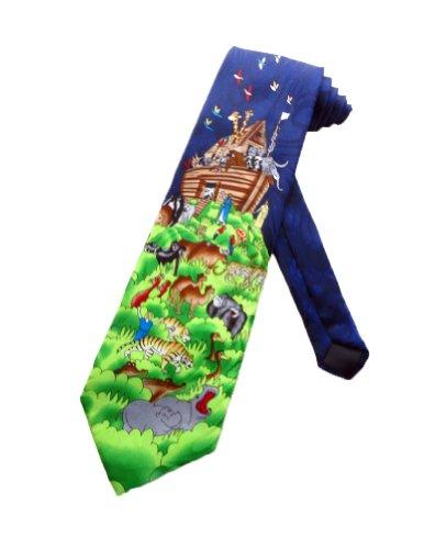Steven Harris Mens Noah's Ark Bible Story Necktie - Black - One Size Neck Tie