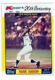 Hank Aaron baseball card 1982 Topps Kmart MVP...