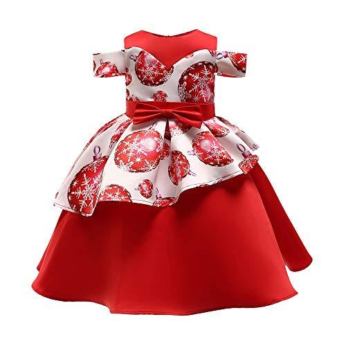 Cuteelf Kinder ärmelloses Kleid Weihnachten Schneeflocke Ballon Print Prinzessin Kleid Rock Kleinkind Kinder Weihnachten Kleidung Temperament Abendkleid bequemes Kleid