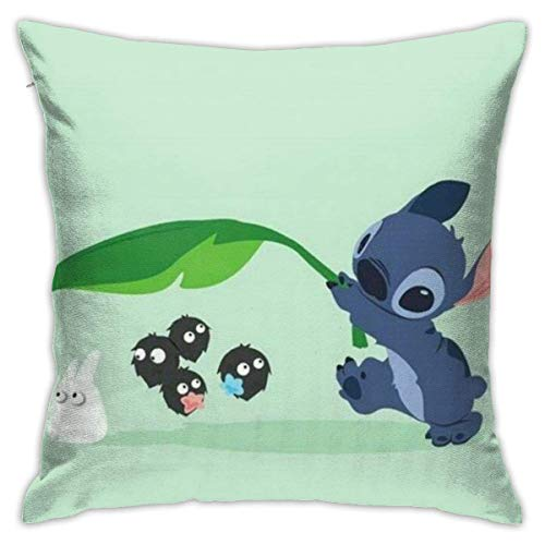 Yuanmeiju Stitch Square Pillowcase Cushion Cover 18' X18' Living Room Sofa Bedroom Pillow Case Concealed Zipper Home Decor