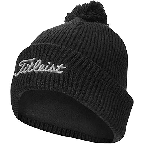 Titleist Pom Pom Winter Golf Stocking Hat Beanie (Black)