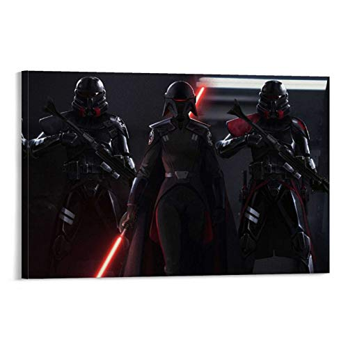 SSKJTC Arte de pared para decoración del hogar, decoración de pared de Star Wars, póster de película Jedi Fallen Order Decoración de sala de estar o baño (50 x 75 cm)