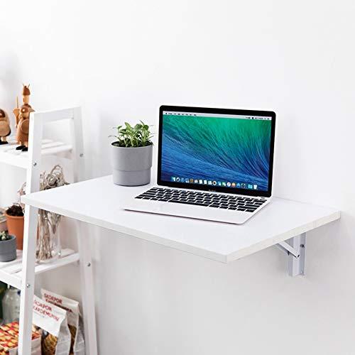 Pieghevole Parete Tavolo Pieghevole Fold Down for i Piccoli spazi, Computer Tavolino for Bambini scrivania, Cucina Tavolo da Pranzo, 60cm / 80cm / 120 Centimetri (Color : White, Size : 120 * 40CM)