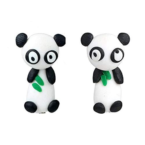 FEARRIN Pendientes Diseño único de Moda Pendientes de Animales encantadores para Mujer niña Flor Colorida Panda Perro Gato Pendiente de Gota Accesorios de joyería de Dibujos Animados en 3D 4219