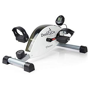 DeskCycle Desk Exercise Bike Pedal Exerciser, White (Renewed)