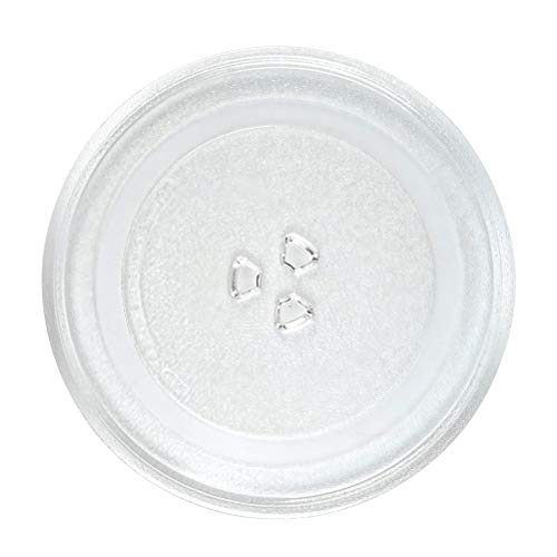 12.5' GE Microwave Glass Plate, Microwave Glass Turntable Plate Replacement, 12 1/2' Plate Equivalent to G.E. WB39X10002, WB39X10003