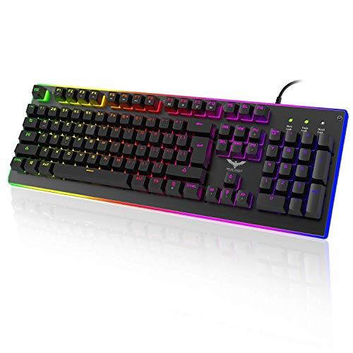 HAVIT RGB Backlit Wired Gaming Teclado de membrana, mechanical-similar escritura/experiencia de juego
