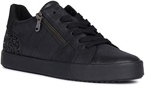 Geox Donna Sneaker BLOMIEE, Signora Scarpe Stringate Basse,Lacci,Scarpe da Strada,Scarpe Stringate,Sportivo,Elegante,Casuale,Schwarz,36 EU / 3 UK