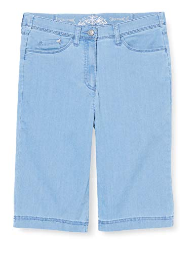 Raphaela by Brax Damen Style Laura Bermuda Super Dynamic Light Denim Skinny Jeans, Bleached, W34/L32 (Herstellergröße: 44)
