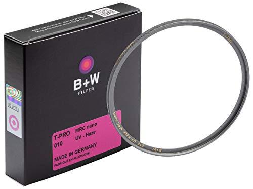 B+W 010 - Filtro Ultravioleta y Protector (52 mm, T-Pro, Acabado de Titanio, MRC Nano, 16 Capas, Super Slim, Premium)