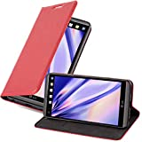 Cadorabo Hülle für LG V20 - Hülle in Apfel ROT – Handyhülle mit Magnetverschluss, Standfunktion & Kartenfach - Hülle Cover Schutzhülle Etui Tasche Book Klapp Style