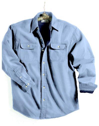 Tahoe Denim Shirt Jacket with Fleece Lining, Color: Light Indigo/Navy, Size: Medium
