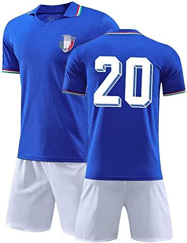 YTTde 1982 Conjunto De Camiseta De Italia No. 20 Maradona, Traje De Rey Retro Conmemorativo De Campeón De La Copa del Mundo,L