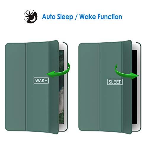JETech Hülle Kompatibel iPad (9,7 Zoll, Modell 2018/2017, 6. / 5. Generation), Intelligent Schutzhülle mit Auto Schlafen/Wachen, Misty Blau
