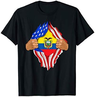Ecuadorian Blood Inside Me T Shirt Ecuador Flag Gift product image