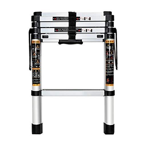 LWH Escalera Plegable de Aluminio,4/5/6 peldaños abatibles, domésticos, Antideslizantes,Ligeros y Resistentes a...