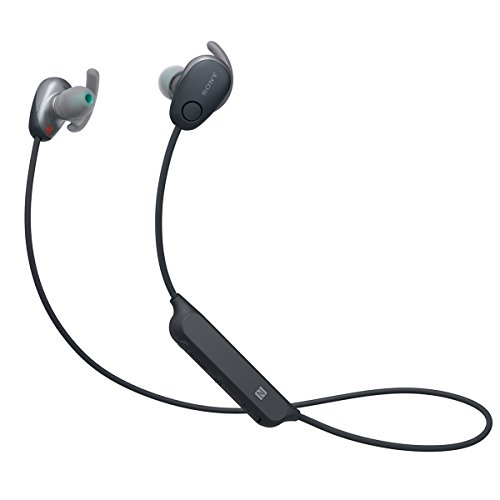 Sony SP600N Wireless Noise Canceling Sports In-Ear Headphones, Black (WI-SP600N/B)