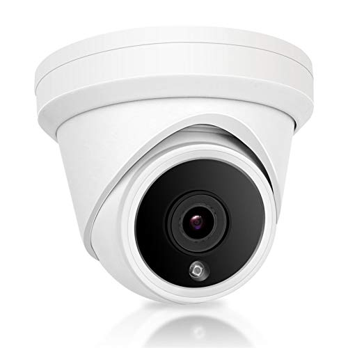 Anpviz 5MP IP PoE Dome Security Camera with Microphone,Turret Camera Outdoor ONVIF Camera IP66 Weatherproof,Night Vision 98ft,Motion Detection Wide Angle 2.8mm(IPC-D350W-S)